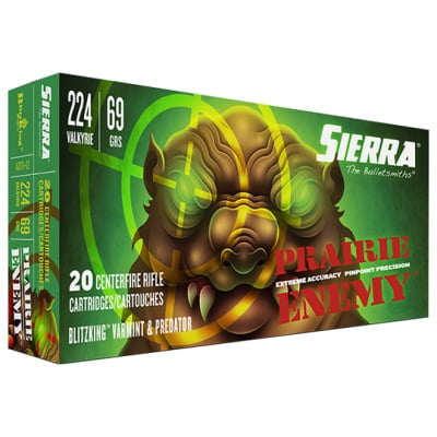 Sierra 224 Valkyrie 69 Grain BlitzKing Ammunition (20 Rounds)