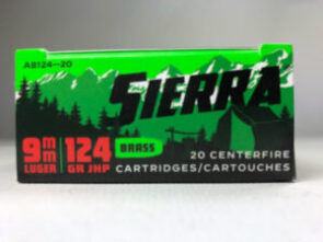 Sierra 9mm Luger 124 Grain Jacketed Hollow Point Ammunition (20 Rounds) Outdoor Master